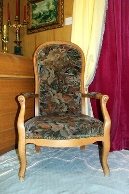 French Louis Armchair Floral Vintage Bedroom/living room Antique Chair 50%Off