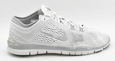 4d9c613c177a Womens Nike Free Tr Fit 4 Running Shoes Size 9 White Silver Gray 629496 102