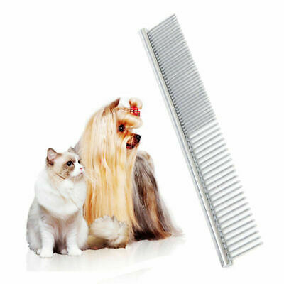 Pets Dog Cat Hair Brush Flea Stainless Steel Pin Grooming Comb Trimmer Tool