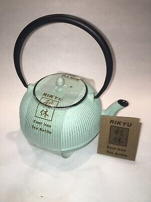 A nice Rikyu Japanese cast iron tea pot Light Green - new with tags!