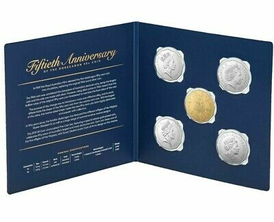 2019 Royal Australian Mint Unc set 50th Anniversary of the 50c Coin Registered D
