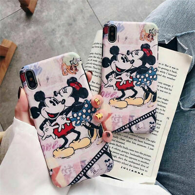 For Samsung Galaxy S10 Plus Note8 9 Cartoon Disney Mickey mouse Soft Case Cover