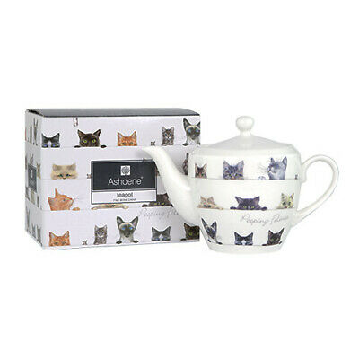 Ashdene  Peeping Felines Small Tea Pot 400Ml