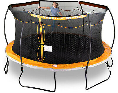 15 Ft  Round Trampoline with Laser Shooter Game Double Mesh Safety Enclosure