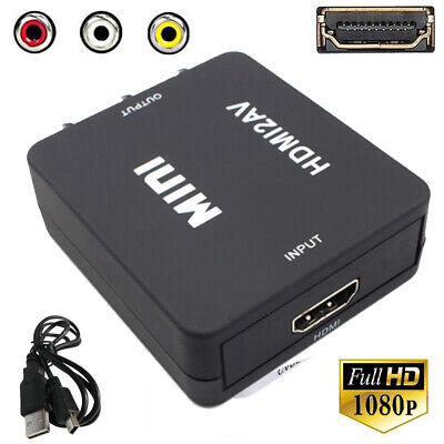 Mini 1080P HDMI Composite to RCA Audio Video AV CVBS Converter Adapter For HDTV