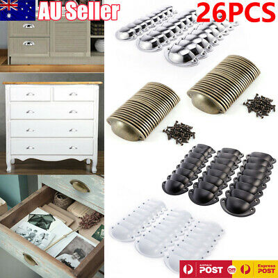 26pcs Antique Retro Shell Kitchen Cupboard Door Cabinet Knob Drawer Pull Handle