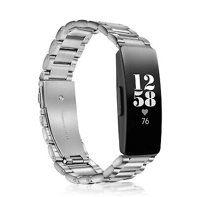For Fitbit Inspire HR & Fitbit Inspire Watch Bands Stainless Steel Metal Strap