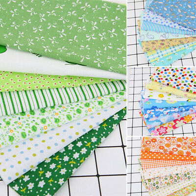 7Pc Crafts handmade DIY Bundle Patchwork Quilting Cotton Fabric Sewing Scrapbook