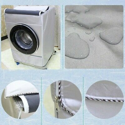 Waterproof Zippered Washing Machine Cover Front Load Washer/Dryer Dust-Proof