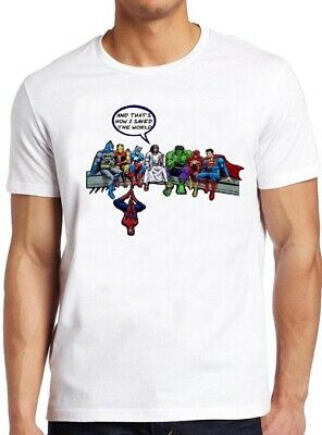 Jesus Superhero T Shirt Funny How I Saved The World Birthday Gift CoolTee 86