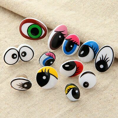 10/50x Cartoon Plastic Safety Toy Eyes Kit for Teddy Bear Doll Animal Making DIY