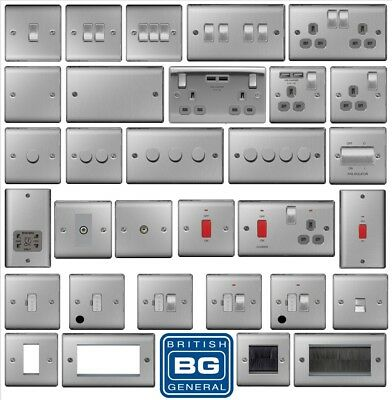 BG Nexus Brushed Steel Switches and Sockets for dfinesales