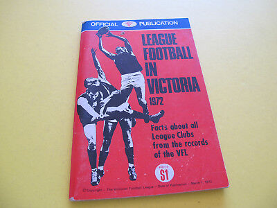 League Football in Victoria 1972 Official Publication