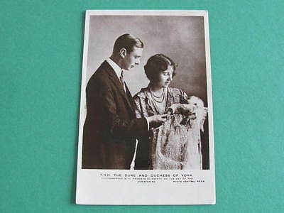 Duke & Duchess of York Later KGVI Royalty Postcard