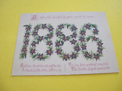 1886 Date Year Victorian Greeting Card