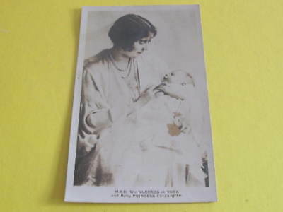 Duchess of York with baby Princess Elizabeth Royalty Postcard