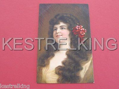 Glamour Lady with Hair Portrait Postcard