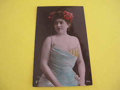 Ethnic Lady with Bird Postcard