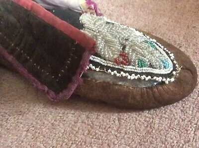Native American Indian Moccasins, 19thc