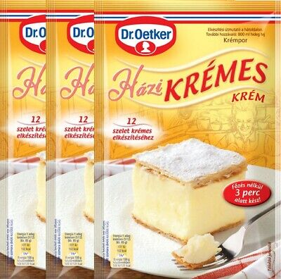 DR OETKER CAKE CREAM HUNGARIAN TRADITIONAL KREMES POWDER DESSERT FREE SHIP 3 x