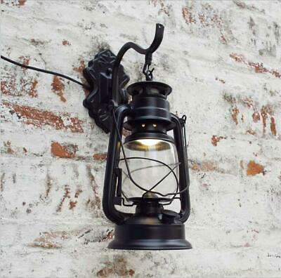 E27 Retro Antique Vintage Rustic Lantern Lamp Wall Sconce Light Fixture Outdoor