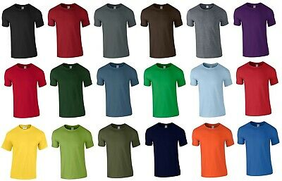 MENS Heavy Cotton Plain Short Sleeve T Shirt  45 COLOURS BEST SELLER Size S-XXL