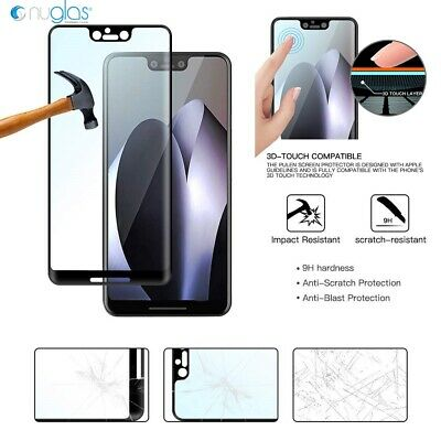 NUGLAS Google Pixel 3A XL 2 XL 3D Full Curved  Screen Protector Tempered Glass