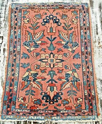 SWEET Vintage PERSIAN ORIENTAL wool hand knotted Malayer RUG carpet 90 x 65 cm