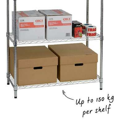 Shelves Warehouse Shelving Heavy Duty Rack Tool Organizer Welded Steel Wire Unit