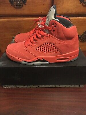 new product 62224 a7db2 Air Jordan 5 Retro Red Suede Raging Bull Red Suede