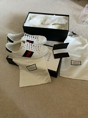 4ce85e43a52 GUCCI ACE SNEAKER with Removable Angry Cat Patches- Size 6.5 - EUR ...