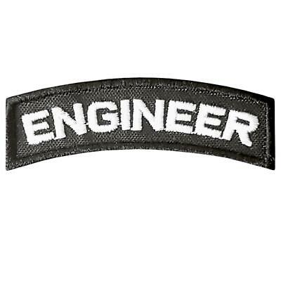 Engineer Tab embroidered tactical morale US army military badge hook&loop patch
