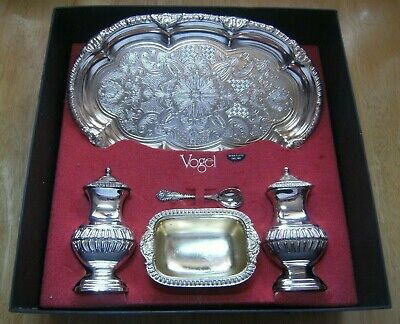 Vogel Silver plated Cruet Set and Tray