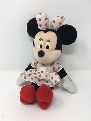 Disney Store Spotty Bow Minnie Mouse Plush Soft Toy Teddy Small Girl Cute Baby