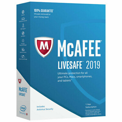 McAfee Anti Virus 1 PC 2019 AntiVirus  Multilingue LIVESAFE