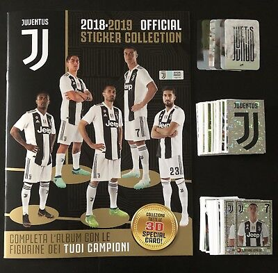 Juventus F.C 2018 19 Europublishing - ALBUM VUOTO + SET COMPLETO MENO 4 FIGURINE