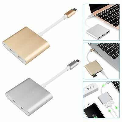 Type C USB 3.1 to USB-C 4K HDMI USB 3.0 Adapter Cable 3 in 1 Hub For Macbook