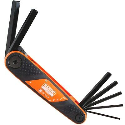 BAHCO ALLEN KEY SET 7 PIECE FOLDING HEXAGON WRENCH 2.5mm To 10mm, BE-9777B