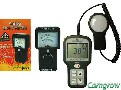 Active Eye - Analogue Light Meter & Digital Light Meter HPS Light Lumens Reader