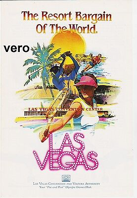 vintage LAS VEGAS 1983 print ad magazine page clipping advert CONVENTION CENTER