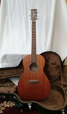 Guitars & Basses Tanglewood Winterleaf Tw3 Electro Acoustic Parlour Guitar With Hard Case Key
