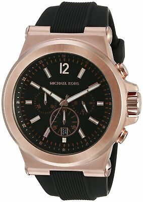 Band New Michael Kors MK8184 45mm Case Dylan Chronograph Black Dial Men's Watch