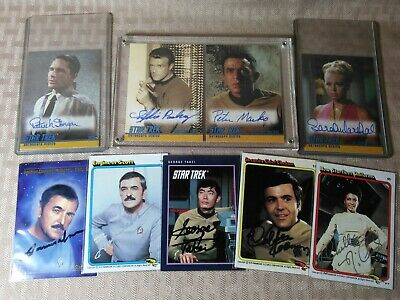 Star Trek ToS Autograph Cards Lot Nichelle Nichols Uhura Scotty James Doohan