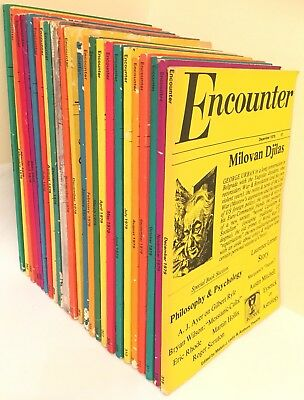 Vintage Encounter Magazine Job Lot x24 Issues 1978 1979 Melvin Lasky & A Thwaite