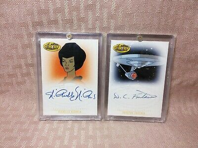 Star Trek Animated Adventures Autograph Card Lot Nichelle Nichols Uhura A7 A4