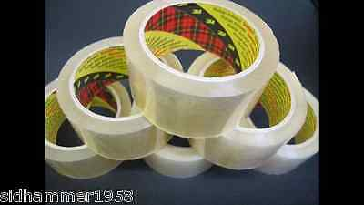 Clear Packing Packaging Tape Scotch 3M 6 Rolls 66m