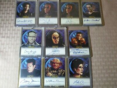 Star Trek DS9 Deep Space Nine Autograph Card Lot of 10 Casey Biggs Wallace Shawn