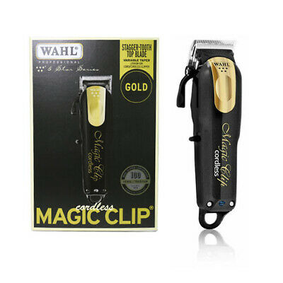 ***New Limited Edition*** Wahl Magic Clip Black And Gold Cordless 8148-100