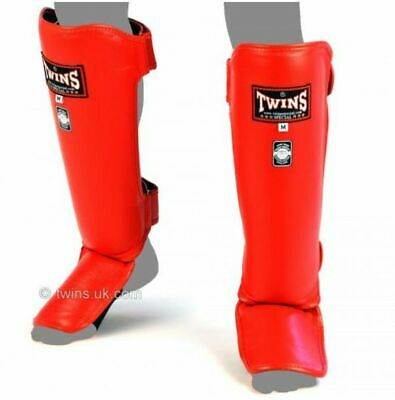 NWT Twins Special Muay Thai Shin Pads SGL10 Shin Guards Tiger Black Kick Boxing
