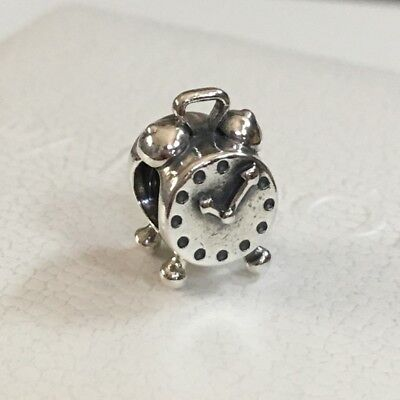 be3b7a0d6 RETIRED Authentic Pandora Sterling Silver S925 ALE Alarm Clock Charm 790449